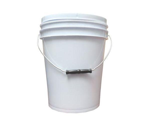 ✅ Cubeta de plástico 10 litros blanca de 1ra con tapa con empaque