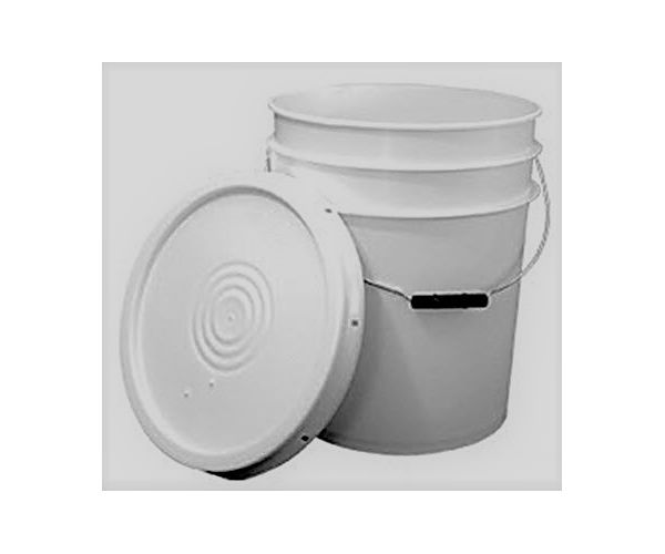 ✅ Cubeta de plástico 19 litros raspada con tapa lisa