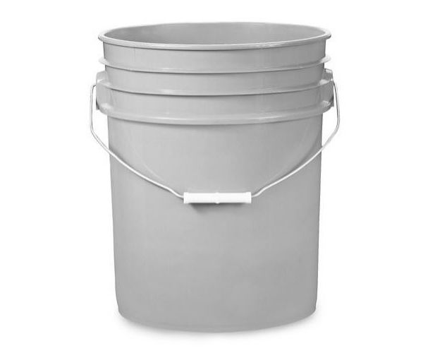 ✅ Cubeta de plástico 19 litros gris con tapa lisa (reciclada)
