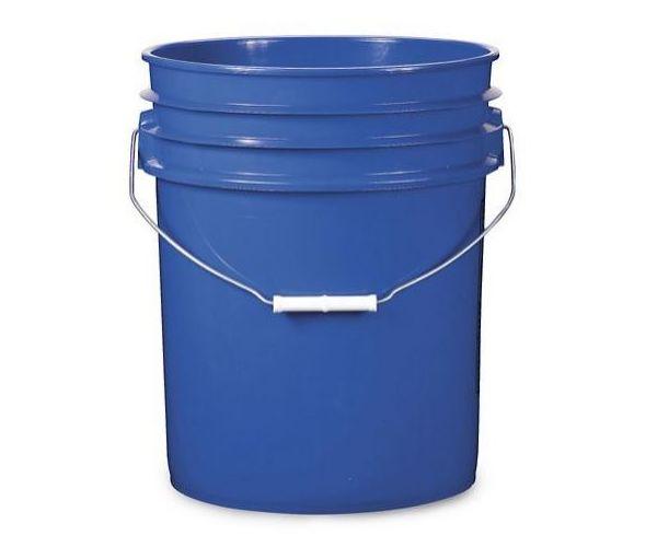 Cubeta de plástico 19 litros azul con tapa lisa (reciclada)