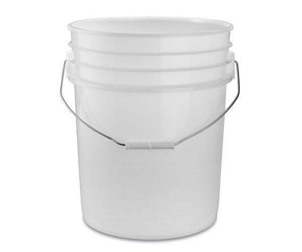 ✅ Cubeta de plástico 19 litros blanca de 1ra sin tapa