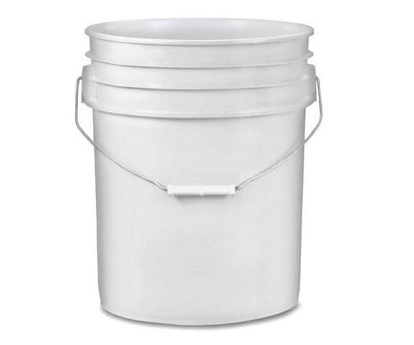 ✅ Cubeta de plástico 19 litros blanca raspada sin tapa