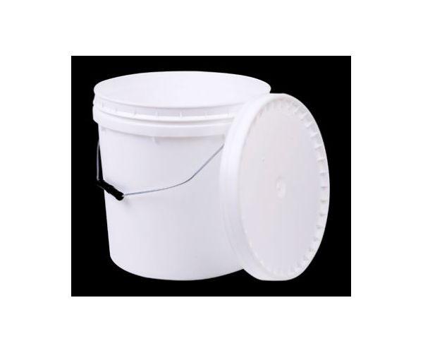 ✅ Cubeta de plástico 20 litros 1ra con tapa y asa metálica