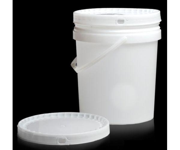 ✅ Cubeta de plástico 15 litros 1ra con tapa y asa de plástico
