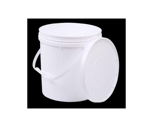✅ Cubeta de plástico 10 litros 1ra con tapa y asa de plástico