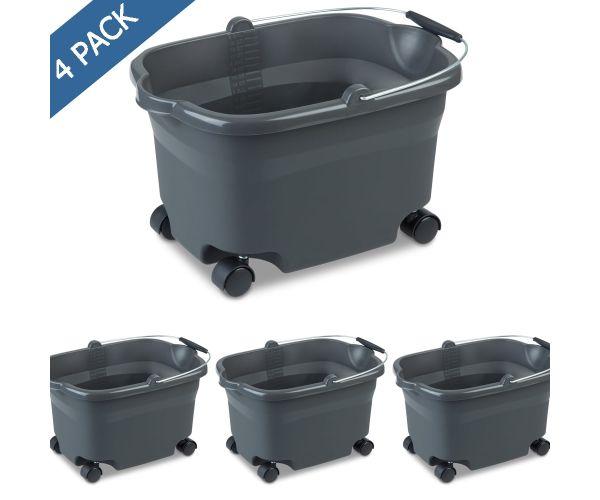 Sterilite bote para basura con tapa tipo balancín, cesto swing-top 13.2 gal / 50 litros
