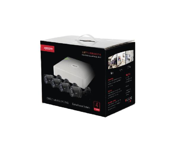 ✅ Sistema Completo / 4 Cámaras de METAL Bala TurboHD 720p / fuente de poder y 4 juegos de cable de 18mts