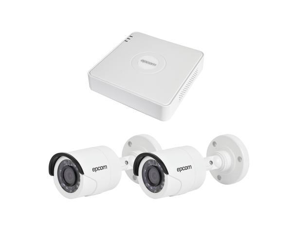 Sistema LEGEND TurboHD 720P, Incluye DVR 4 ch y 2 cámaras bala