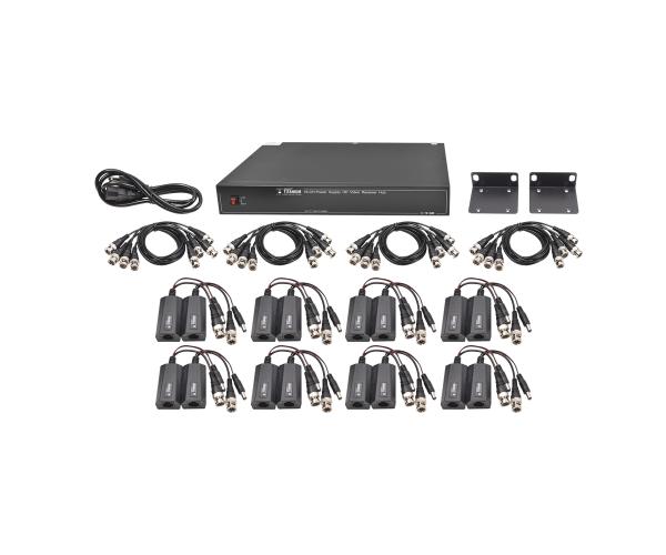 ✅ Sistema completo con 16 canales, 1 receptor activo de 16 canales y con 16 transceptores de video
