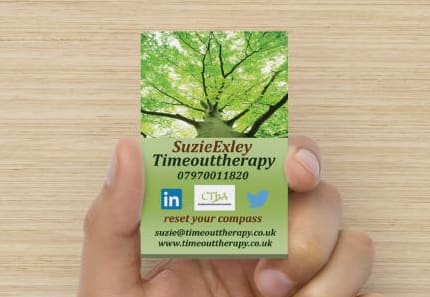 Picture of timeouttherapy business card