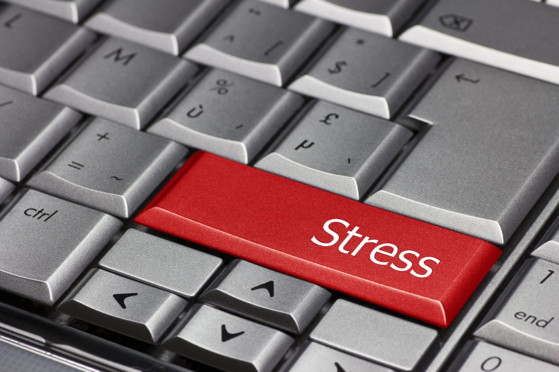 Computer key - Stress