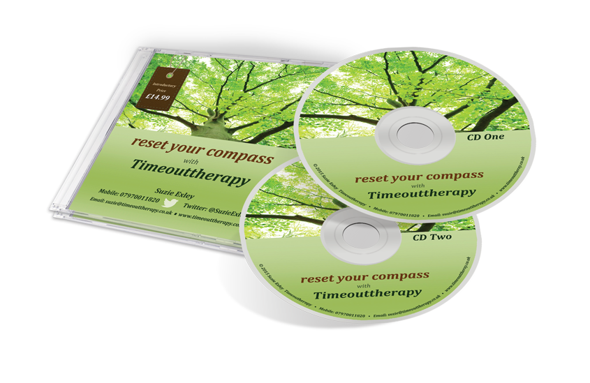 CD cover mock-up for reset your compass two CDs
