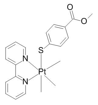 Image thumbnail for Platinum trimethyl Luminophore Small Molecule (Tool Compound)
