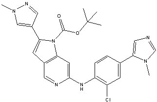 Molecular structure of CCT251455.