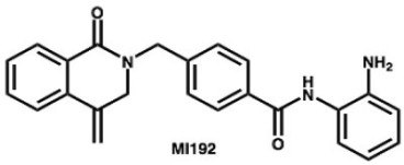 Chemical structure of the histone deacetylase 3–selective