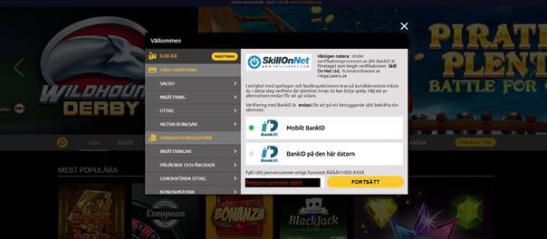 mega casino registrering