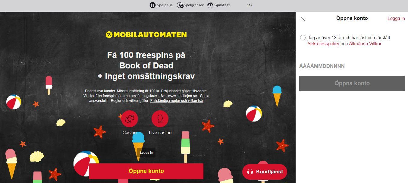 mobilautomaten registrering