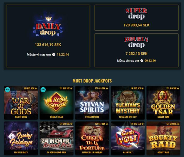 Red Tigers samling med jackpottspel finns här