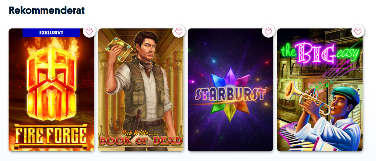nya casinon spel
