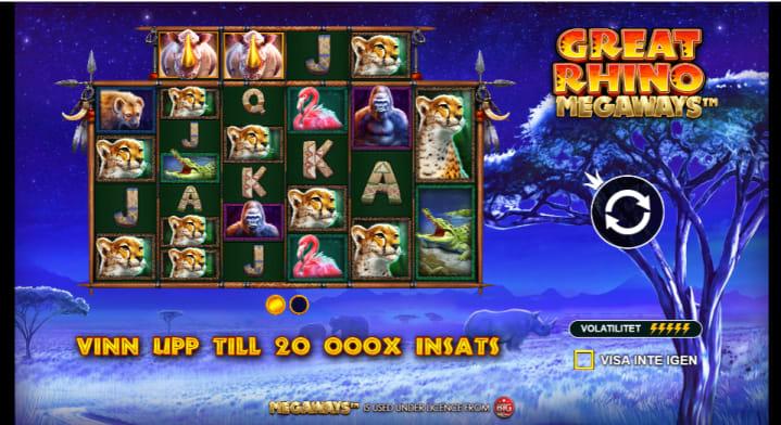 Great Rhino spelautomatntro
