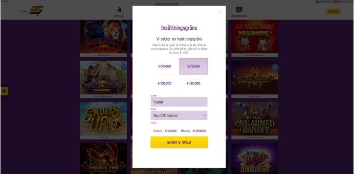Lucky casino insättningsgräns