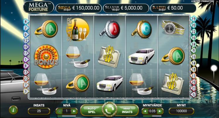 Mega fortune slot spelplan