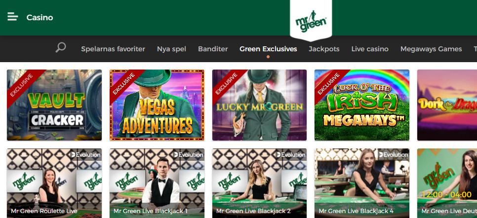 mr green exklusiva spel