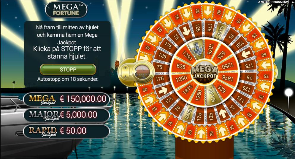 Mega fortune bonus hjul