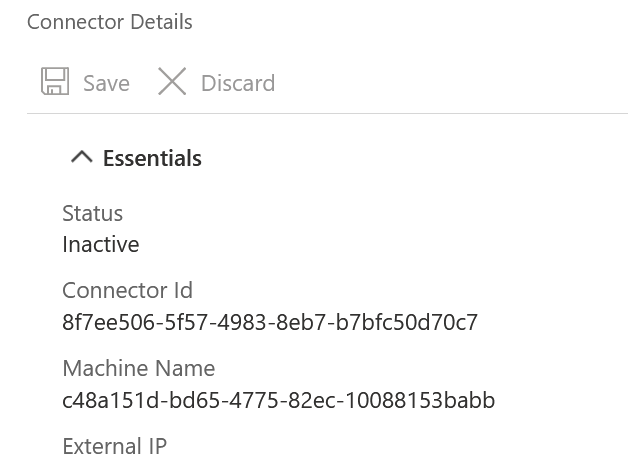 Connector ID UUID shown in Azure Portal