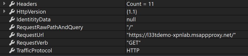 HTTP information from inbound Service Bus channel