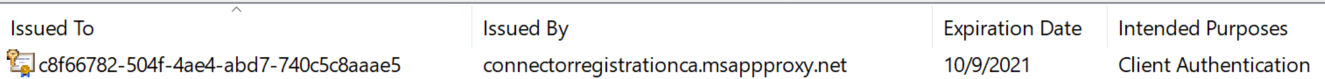 SSL certificate added to local certificate store