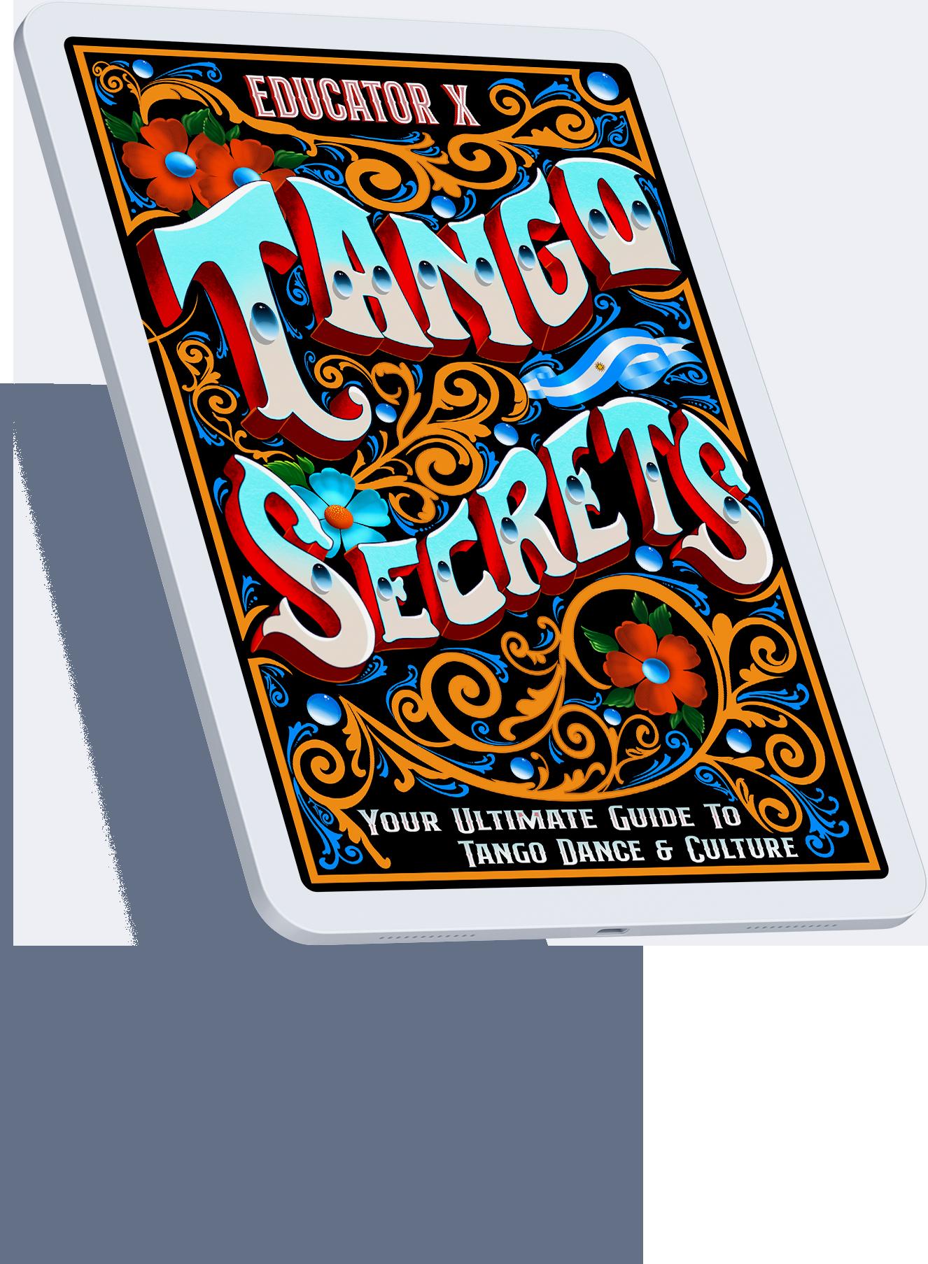 Tango Secrets Book Cover on iPad Air