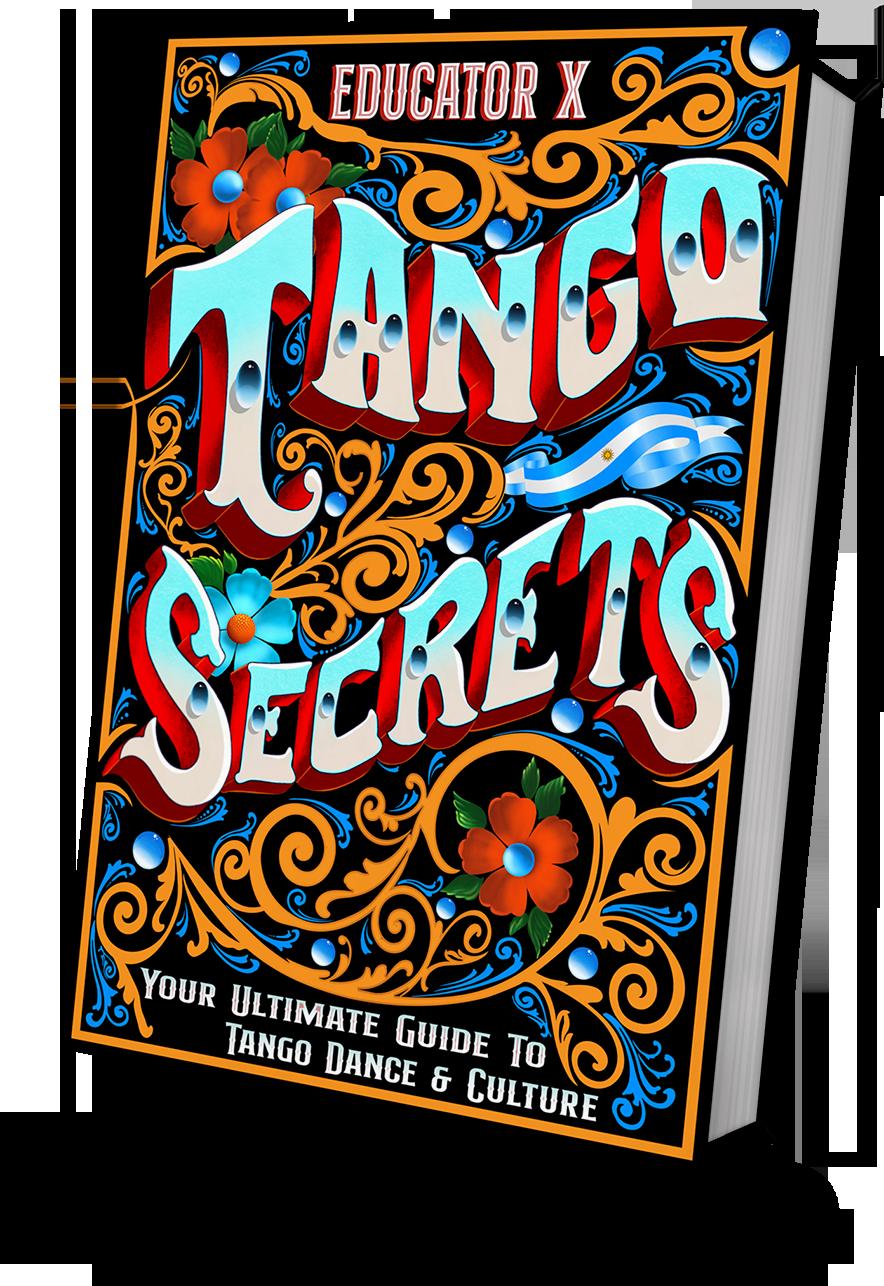 Tango Secrets book front Fileteado cover