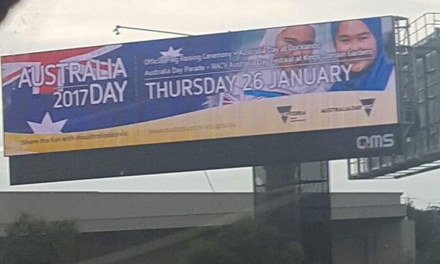 Australia Day Muslim billboard
