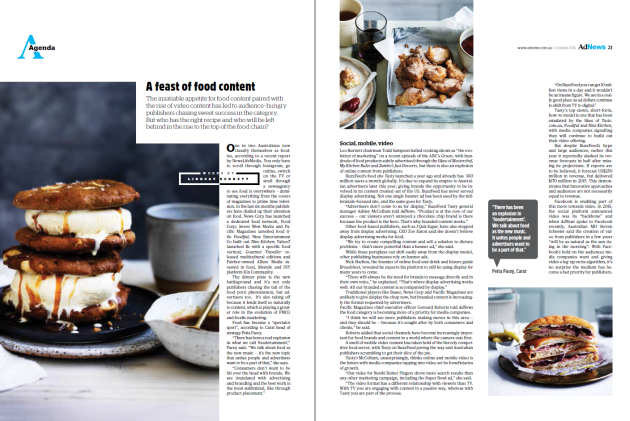 food content October issue