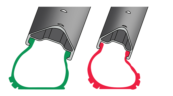 An illustration of tyre squirm—wider rims can greatly reduce this tendency.