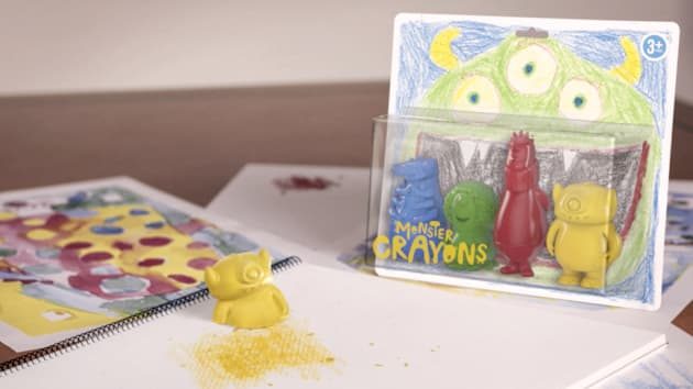 monster crayons