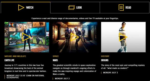 Optus launches Nat Geo app