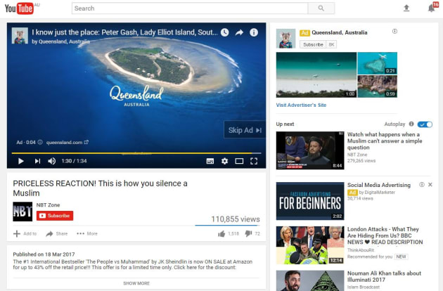 Tourism and Events Queensland YouTube ad