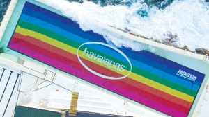 Havaianas turns Bondi Icebergs pool rainbow via Monster Children Creative