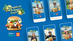 Uber Eats brings tour guides from the Cook Islands in to give tours of the Tropical Whopper burger