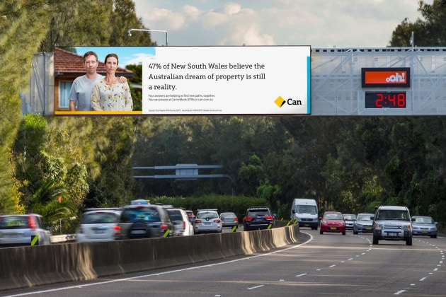 commbank outdoor ad