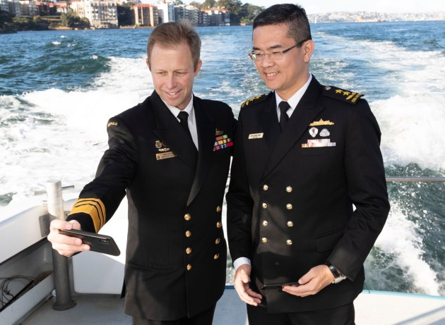 CN Noonan with Chief of Navy Republic of Singapore Lew Chuen Hong. Defence
