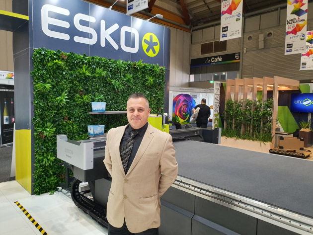 Smart and simple: Scott Thompson with the Esko Kongsberg C cutting table