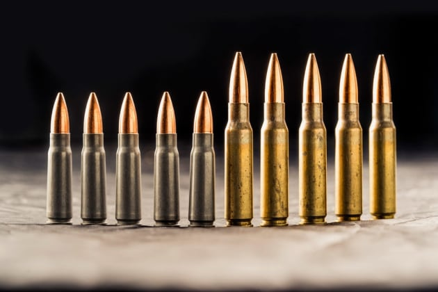 7.62x39 (left) and 7.62 NATO (right)