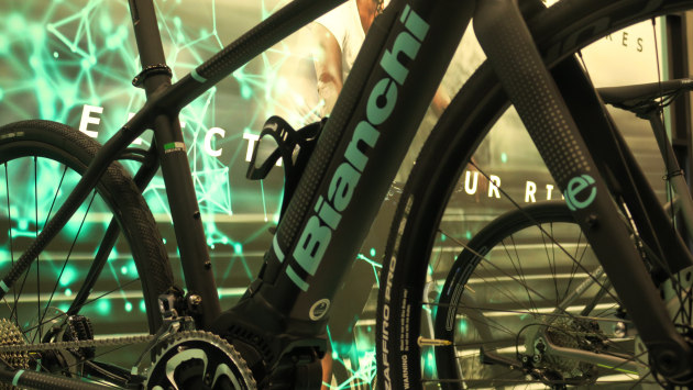 a1173fc92f5 A slim line battery and relativley subtle electric motor help softenthe  appearance of Bianchi s first e-road bike.
