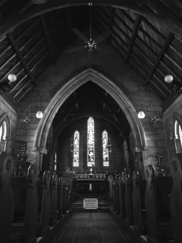 Bodalla, New South Wales. As beautiful as this church's interior was, my phone's sensor noise wasn't. By editing this shot in black and white I was able to turn that noise into a less intrusive artistic grain. I used a combination of curves, radial filters and luminance sliders to bring this low light scene back to life.