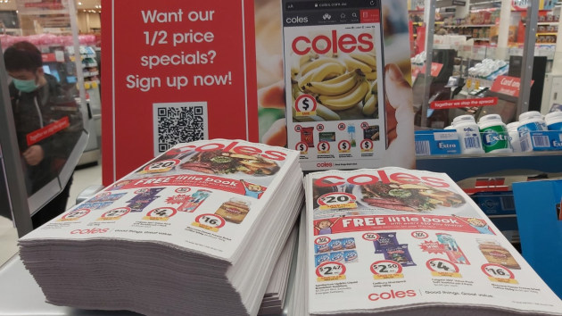 Displaced by digital: Coles catalogues