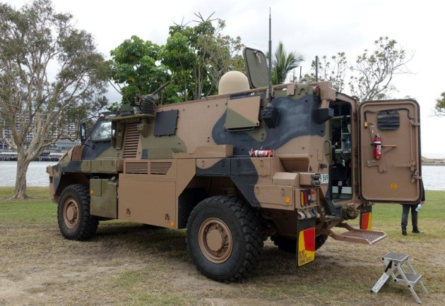 One of two prototypes of an eventual 18 Bushmasters to be delivered under Project Currawong. Nigel Pittaway
