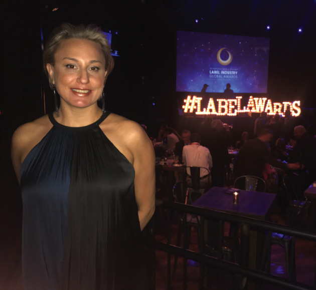 Danielle Black, Label Power, at the 2018 Label Awards.